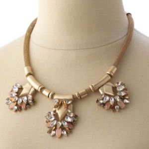 Classic Gold Stella & Dot Crystal Collar Necklace